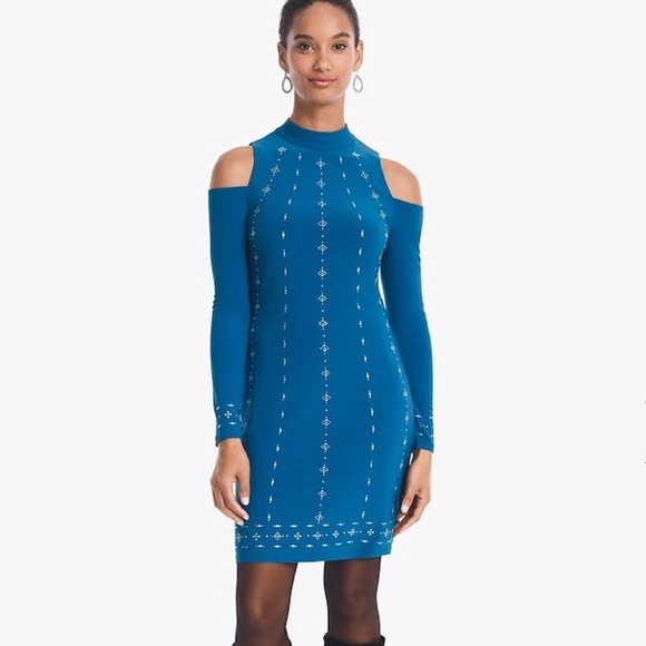3aec3194167 ❤️WHBM Beaded Knit Dress. NWT. White House Black Market